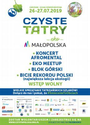 Czyste Tatry 2019 plakat