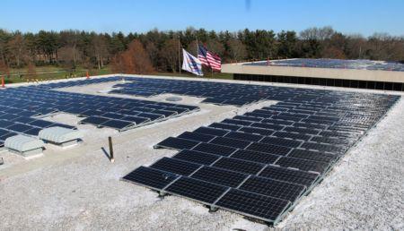 Panele sloneczne na dachu siedziby PepsiCo USA