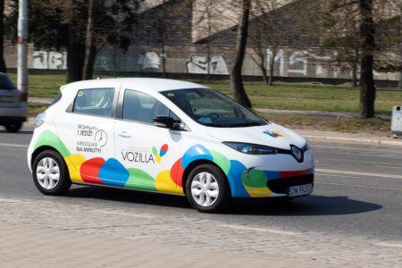 Renault ZOE we flocie Miejskiej Wypożyczalni Samochodów Elektrycznych Vozilla