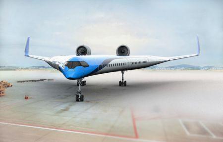 Wizualizacja Flyin V w barwach KLM
